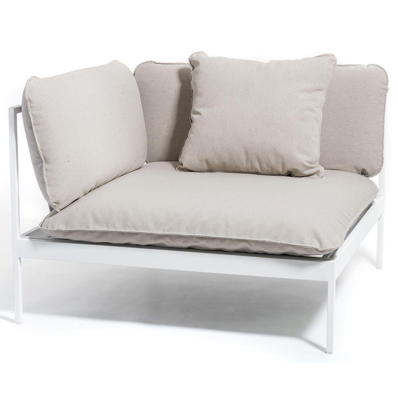 Bönan hörndel från Skargaarden i vit aluminium.