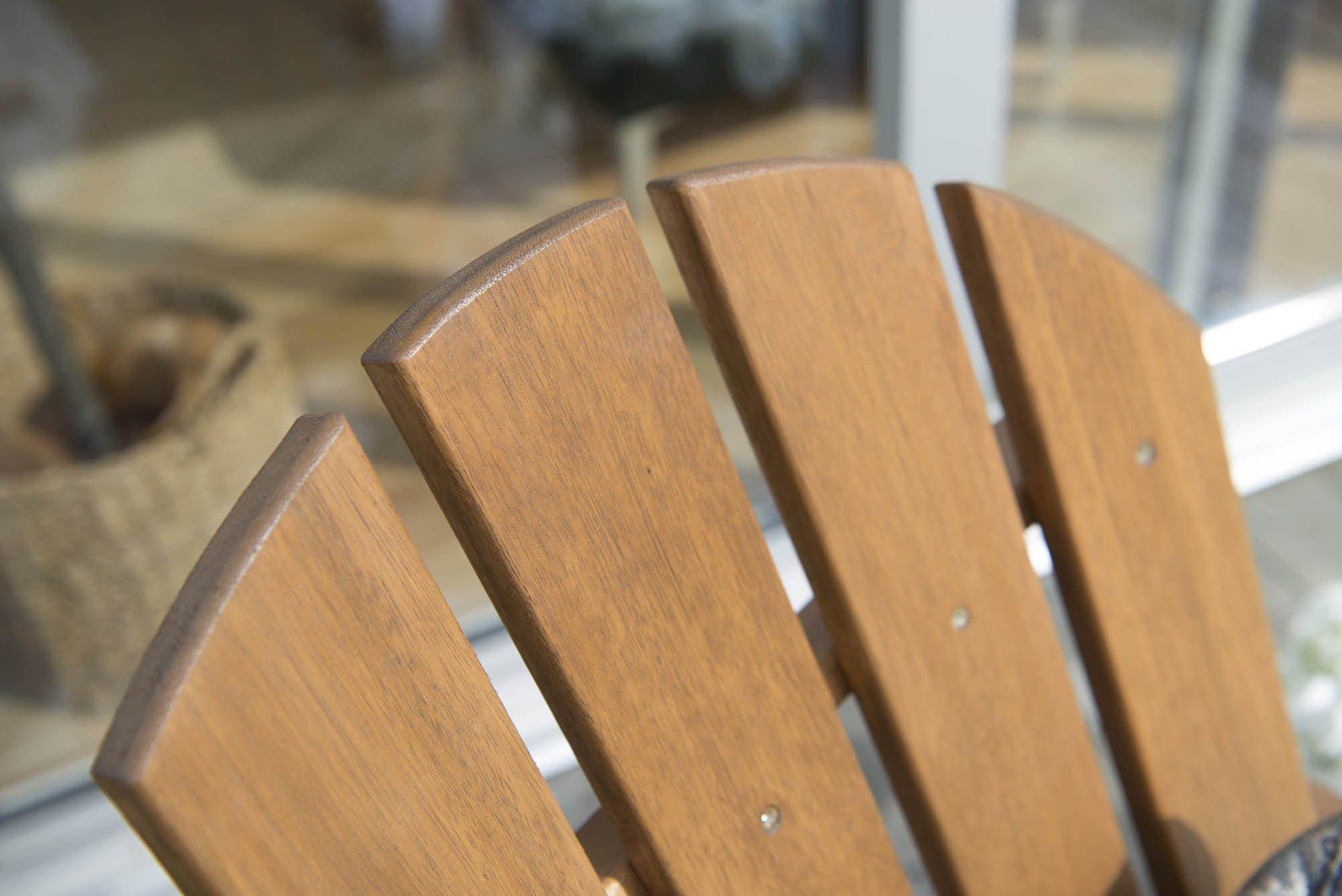 Detaljbild av Tennesse adirondackstol i ask.