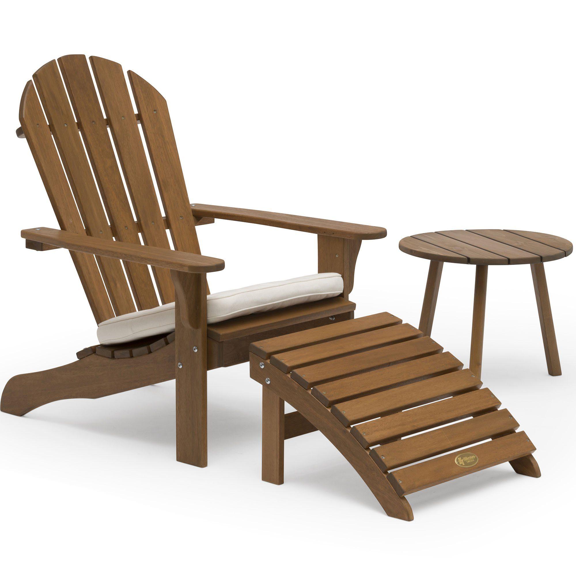 Tennessee däckstol och sidobord i värmebehandlad ask från Hillerstorp.