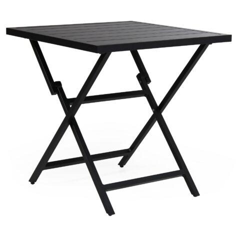 Wilkie fällbart cafébord i svart från Brafab.