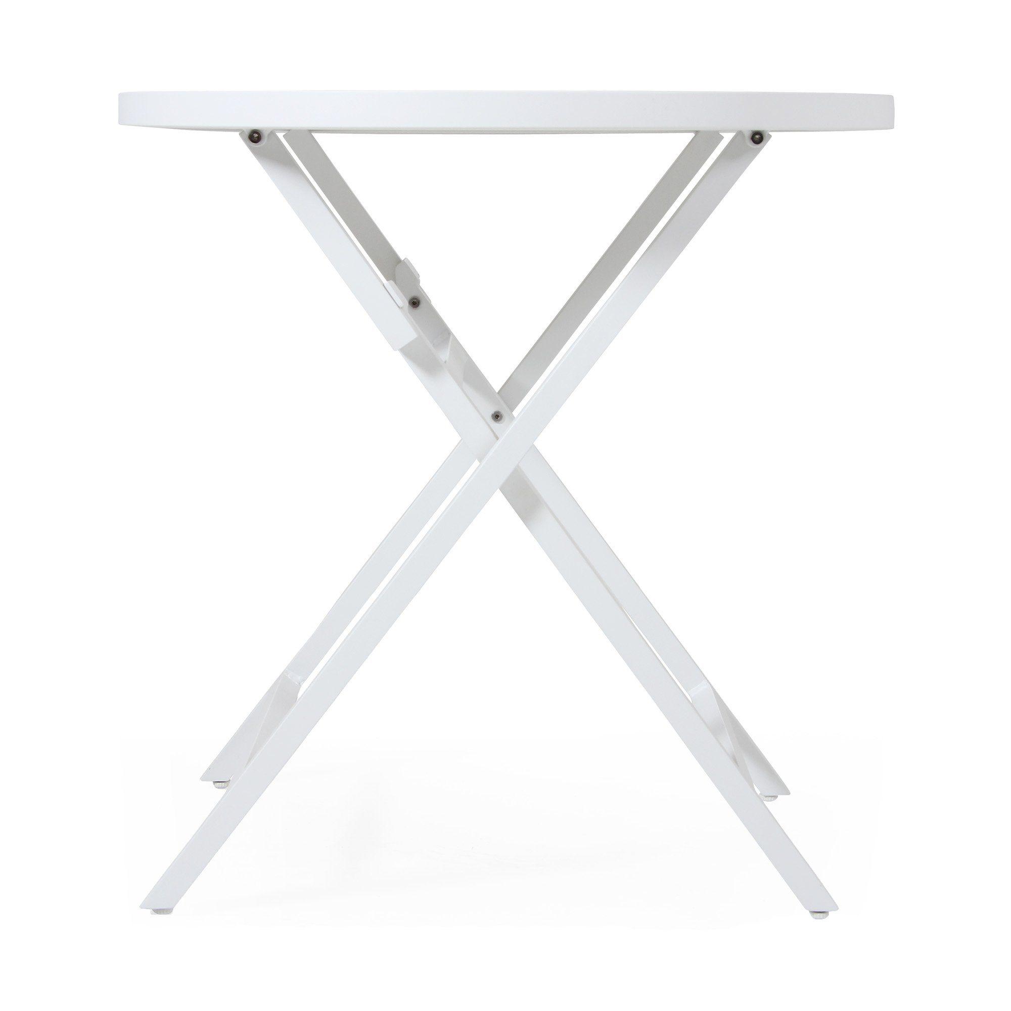 Wilkie ihopfällbart cafébord från Brafab i vitt.