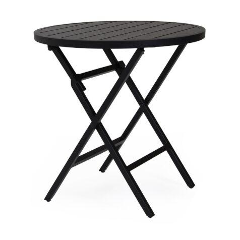 Wilkie cafébord i svart aluminium från Brafab.