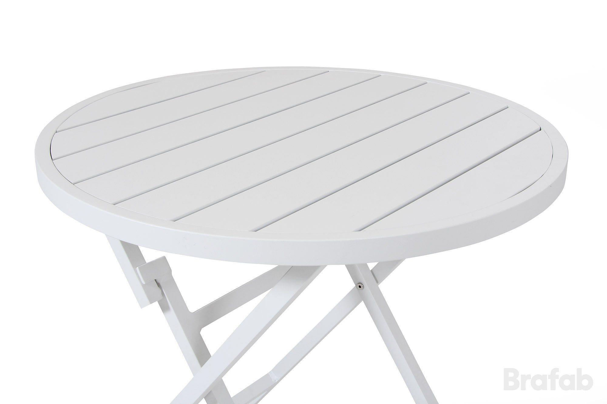 Cafébord i vit aluminium från Brafab.