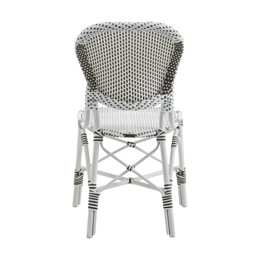 Bild påIsabell caféstol i vit konstrotting.
