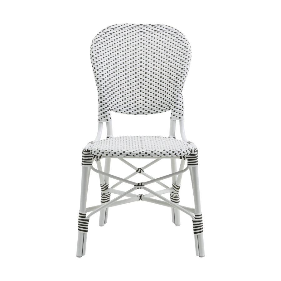 Bild på Isabell caféstol i vit konstrotting.