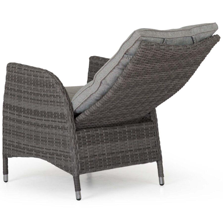 Coventry positionsstol i antracitgrå konstrotting med ljusgrå dyna.