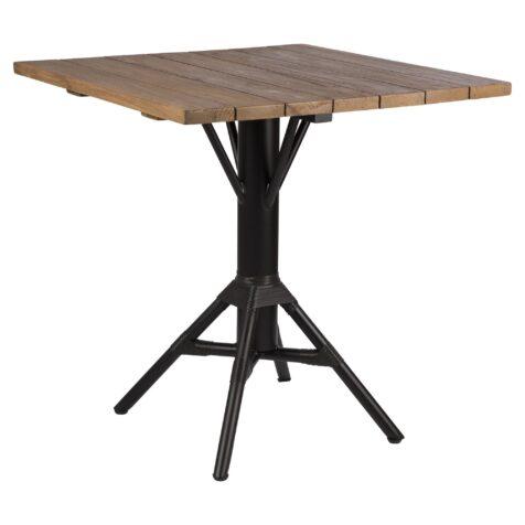 Nicole cafébord i svart och teak från Sika-Design.