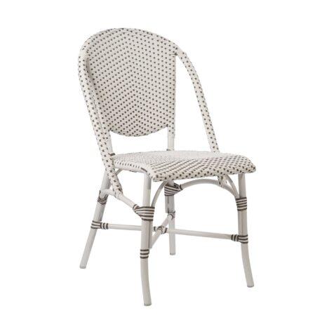 Sofie matstol i aluminium och konstrotting från Sika-Design.