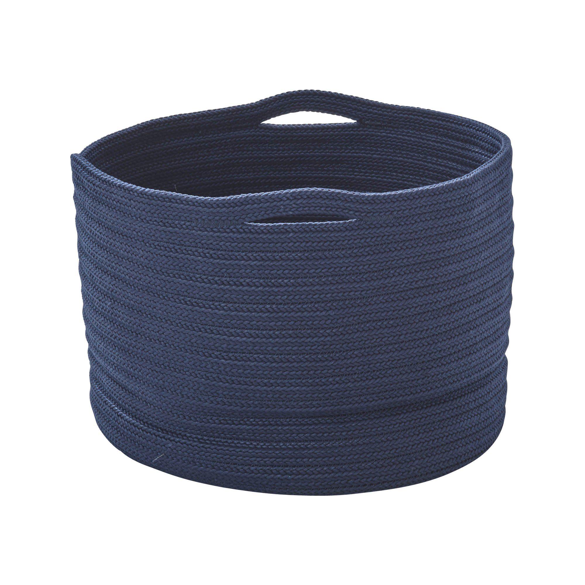 Soft korg från Cane-Line i blå polypropylen.