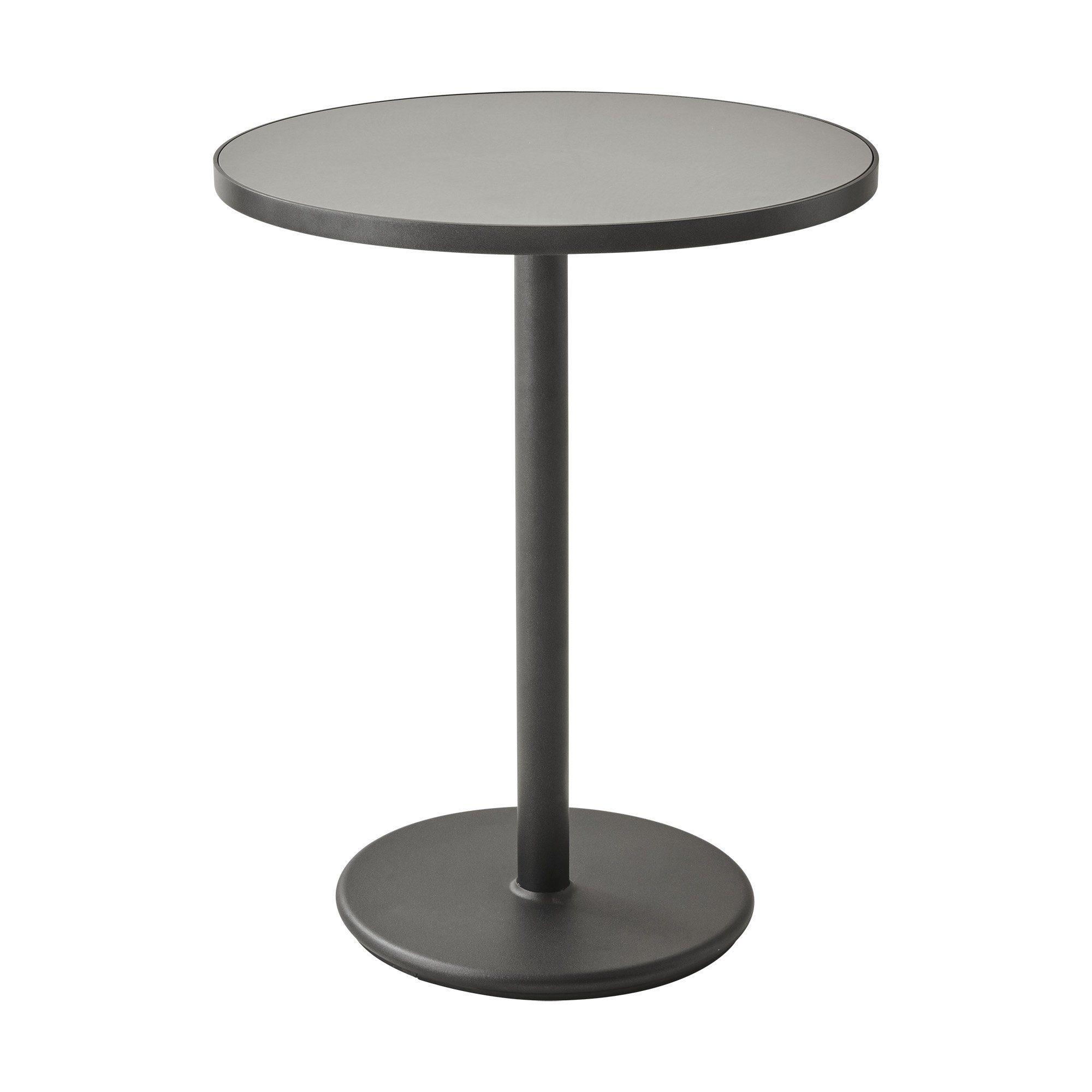 Go cafébord i lavagrått med keramisk bordsskiva i ljusgrått.