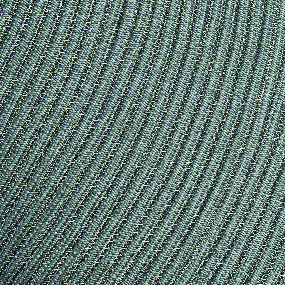 Detaljbild av Infinity matta rund i grönt.