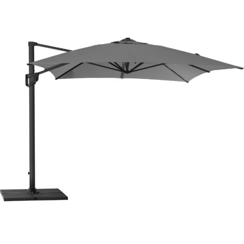 Hyde Luxe parasoll i färgen antracitgrå från Cane-Line.