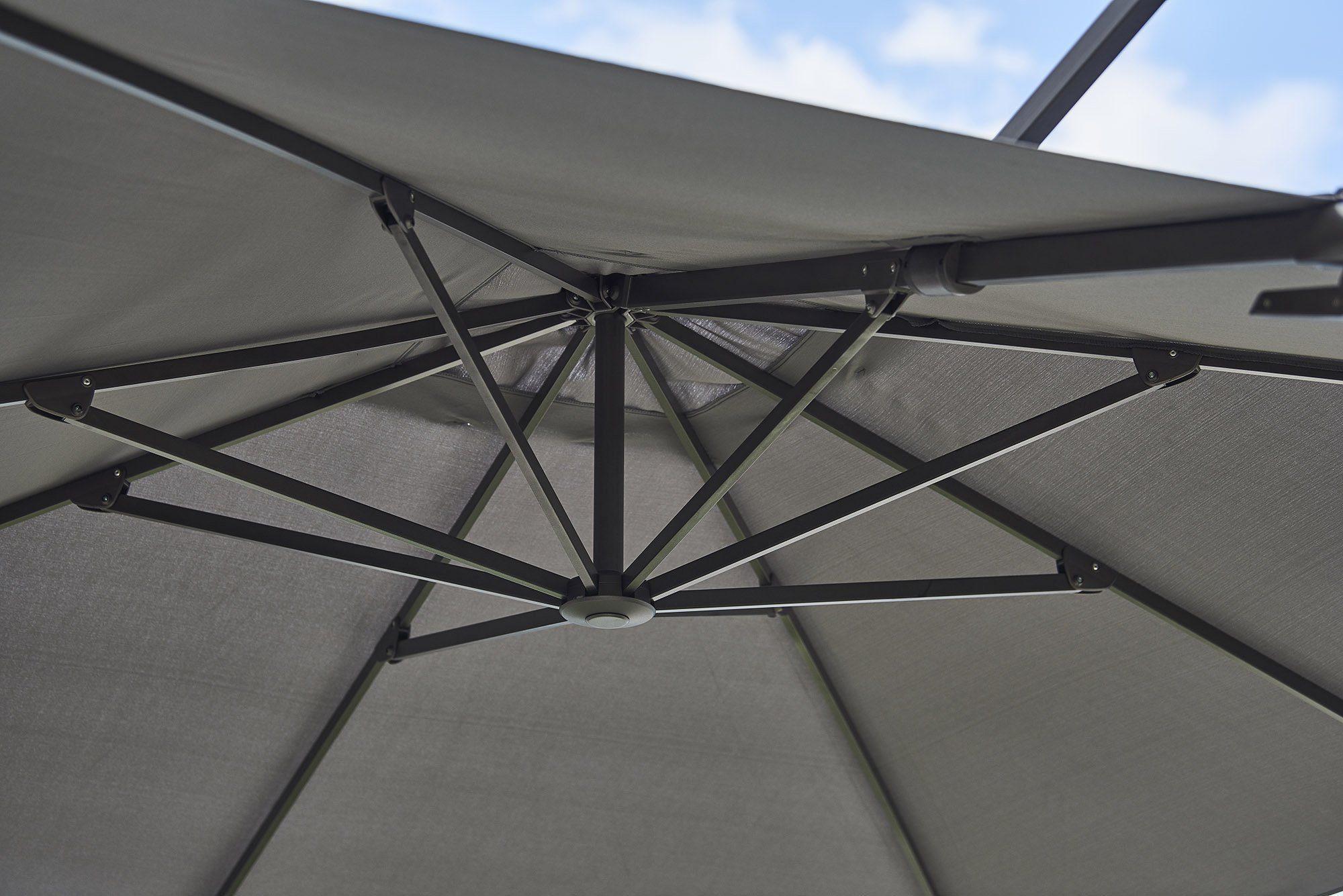 Detaljbild av Hyde Luxe parasoll från Cane-Line.