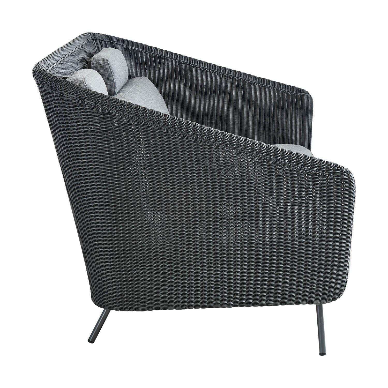 Mega 2-sitssoffa i graftgrått med grå softtouchdynor från Cane-Line.