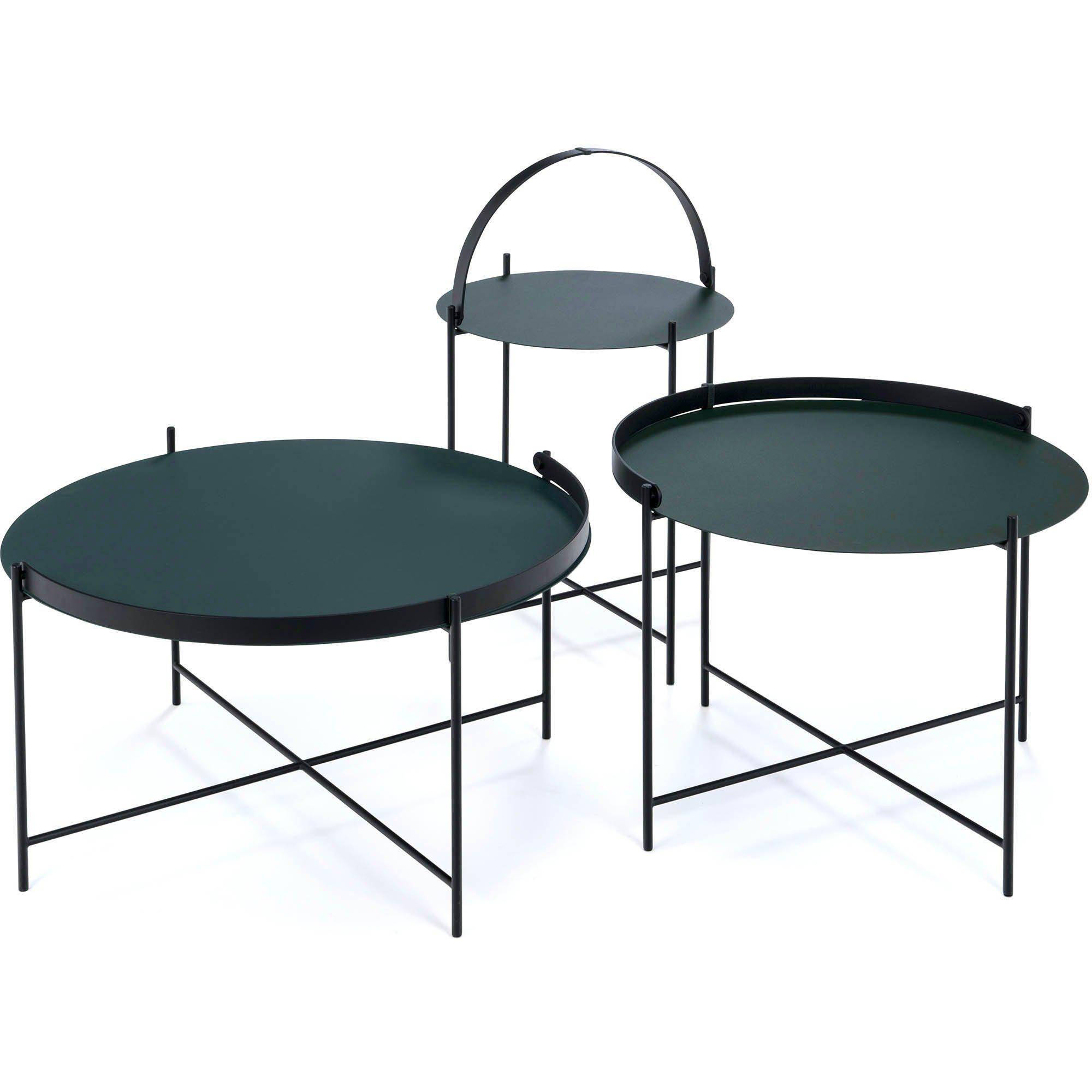 Edge bord från Houe i svart och grönt.