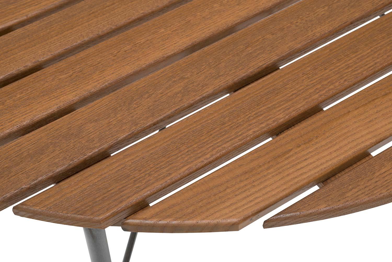 Detaljbild på Sandhamn bord i värmebehandlad Ask.