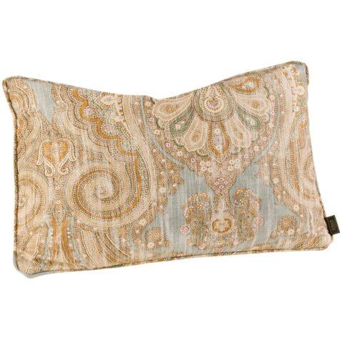 Boticelli azure kuddfodral med passpoal, i storleken 60x40 cm.
