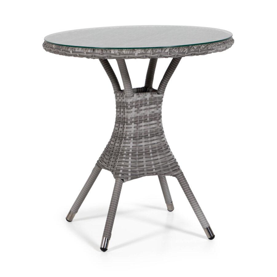 Windsor bord Ø70 cm i pärlgrå konstrotting.