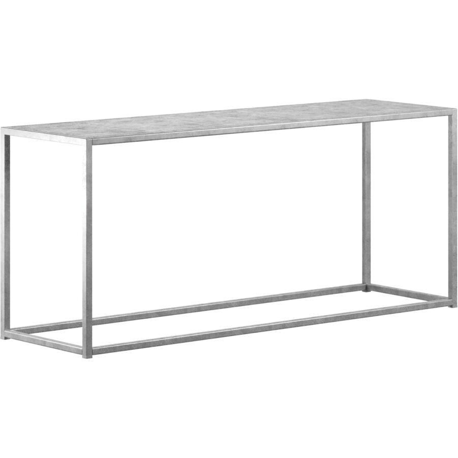 Design Of bänk i galvaniserad stål.