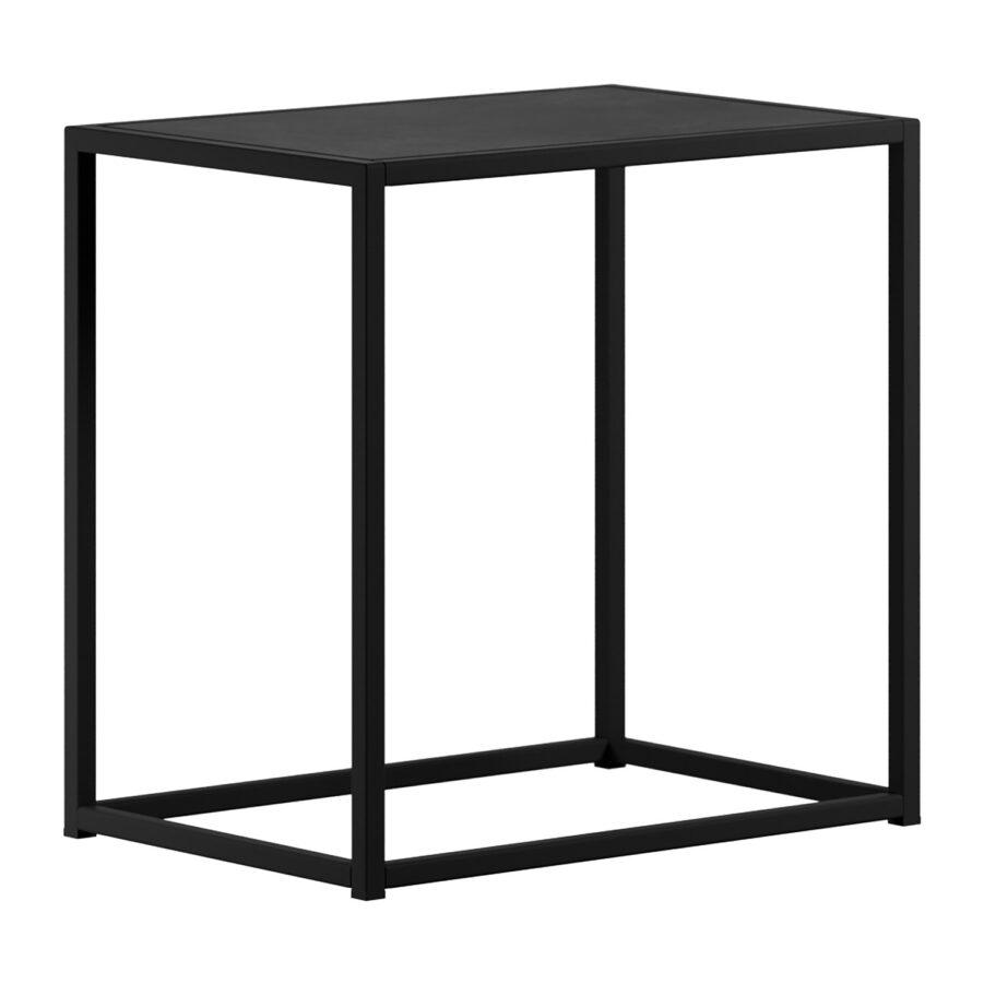 DesignOf pall i svart lackad stål.