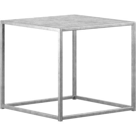 Design Of sidobord i storleken 43x43 cm i galvad stål.