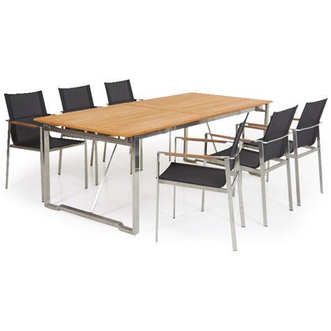Gotland matgrupp med förlängningsbord, från Brafab.