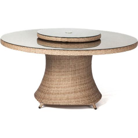 Hasting matbord i naturfärgad konstrotting från Atleve.