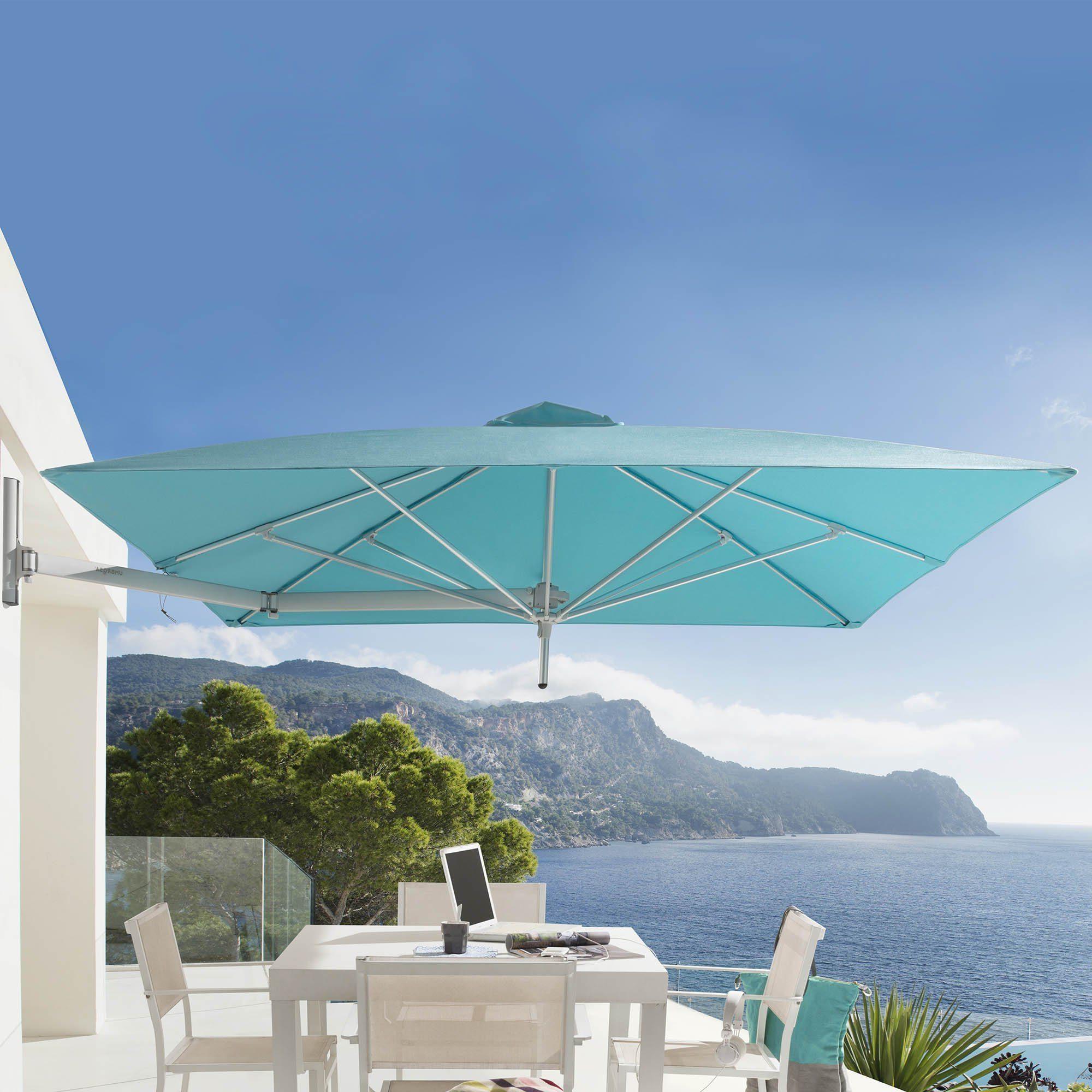Det väggmonterade parasollet Paraflex från Umbrosa.