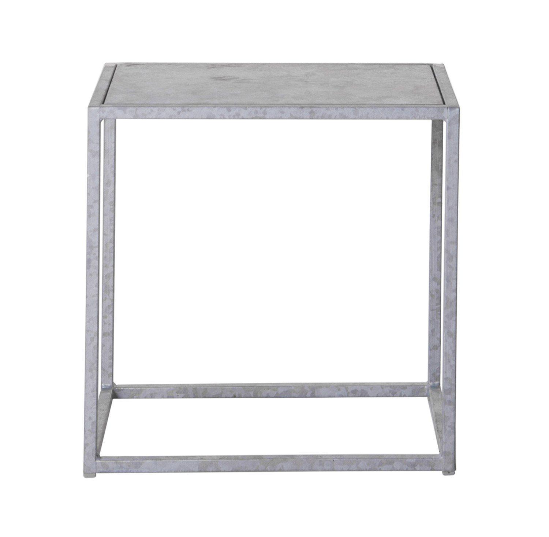 Domo pall i galvaniserat stål från Domo Design.