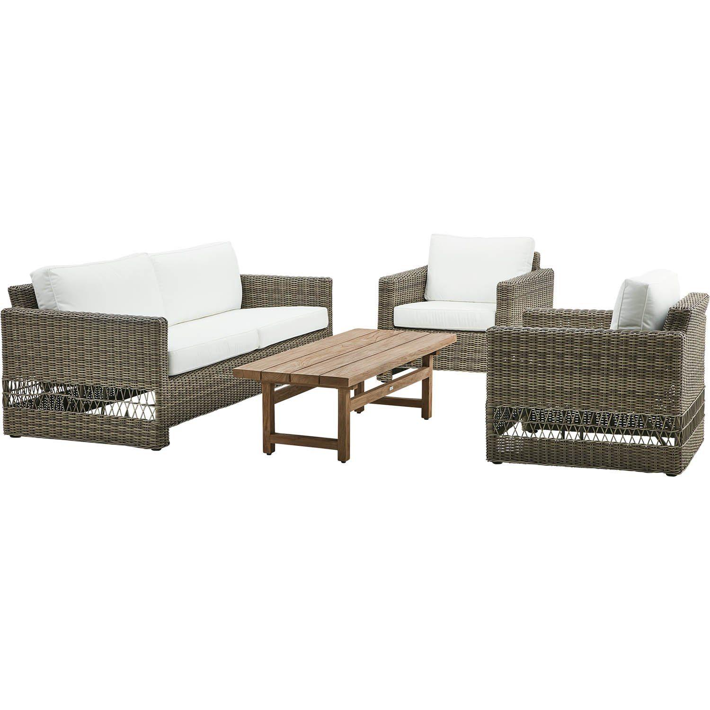 Bild på Carrie soffgrupp antik från Sika-Design med soffbord i teak.