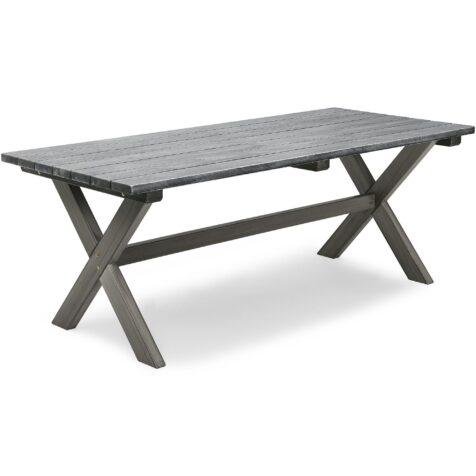 Shabby Chic bord i storleken 195x86 cm i grått från Hillerstorp.