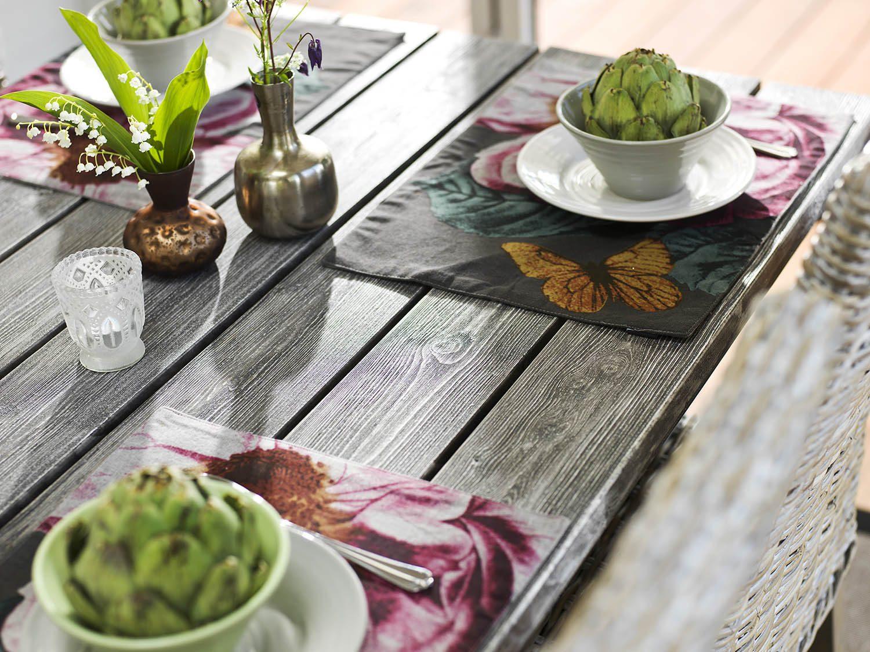 Detalj av Shabby CHic matbord från hillerstorp.