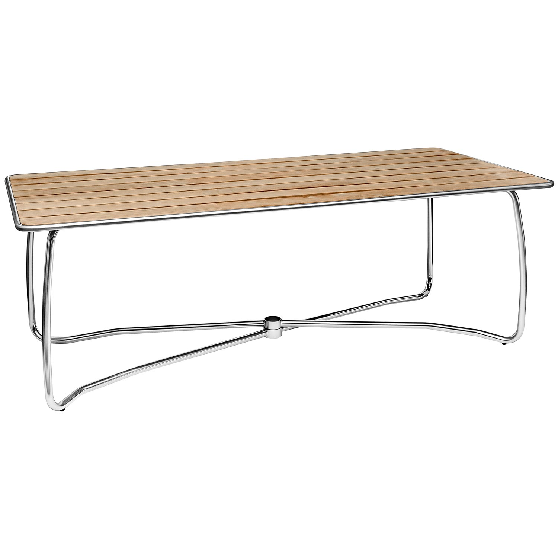 Rektangulärt Spring bord med teakskiva.