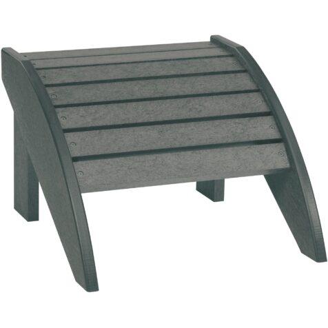 Fotpall från Eco utemiljö i färgen slate grey.