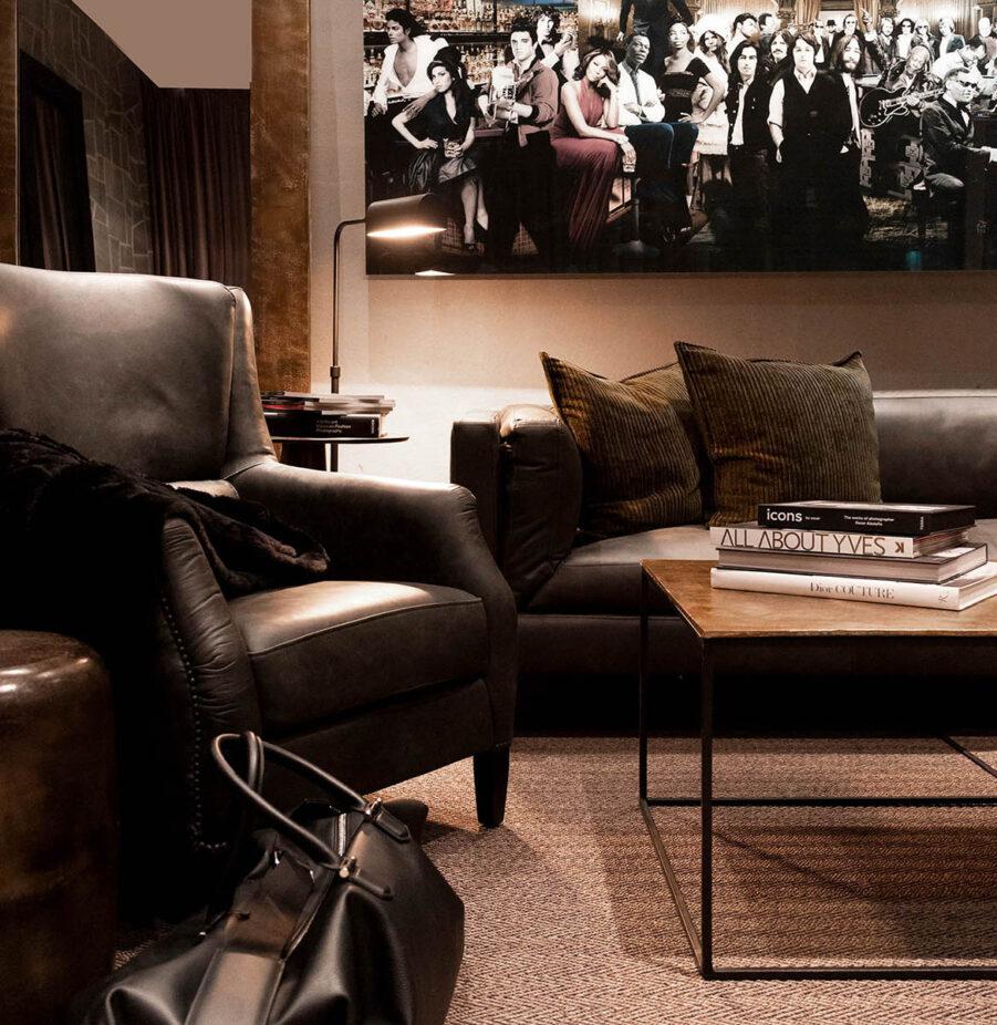 Miljöbild spencer soffa, mille bord, hurricane matta från artwood
