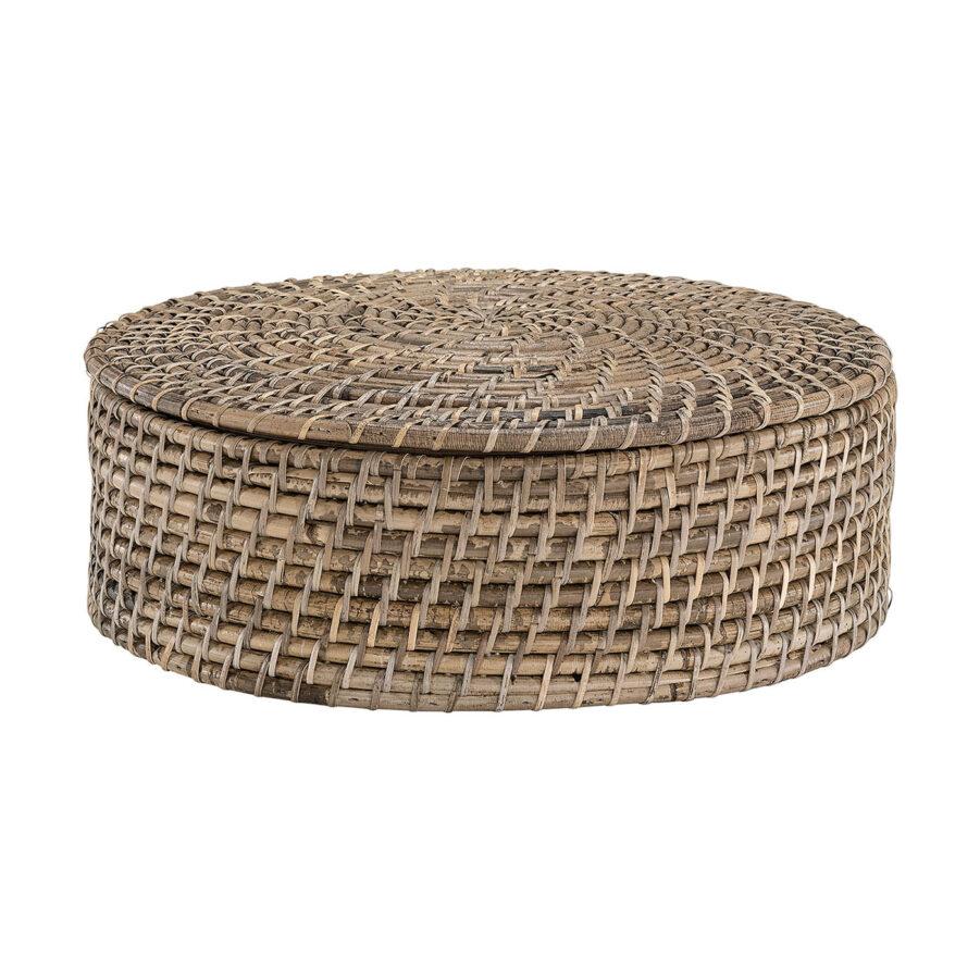 Amazon brödkorg med lock i färgen natural antique.