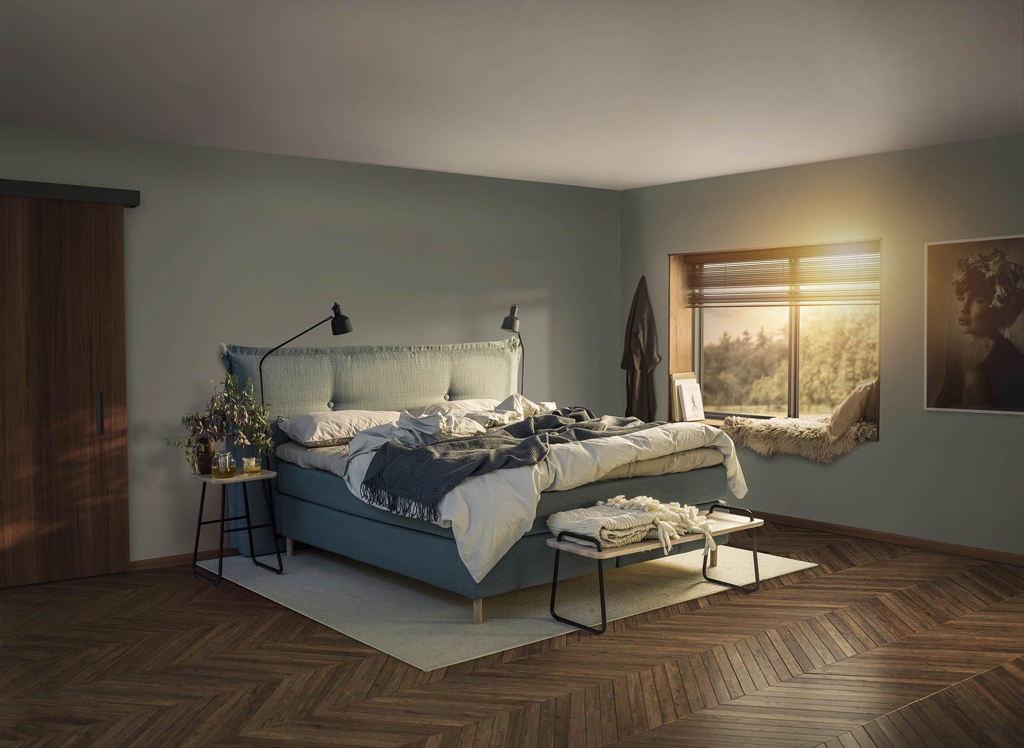 """Jensens sänggavel """"Cosy"""" i en miljöbild."""