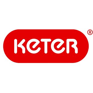 Logotyp för varumärket Keter som tillverkar dynlådor i plast.