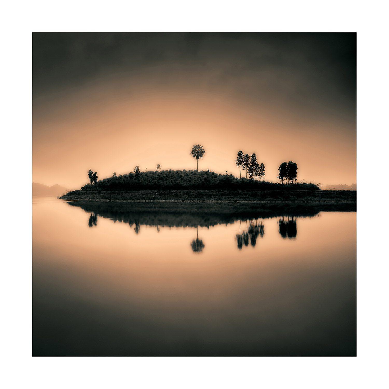 Sunset Island fotografi tavla från Artwood.