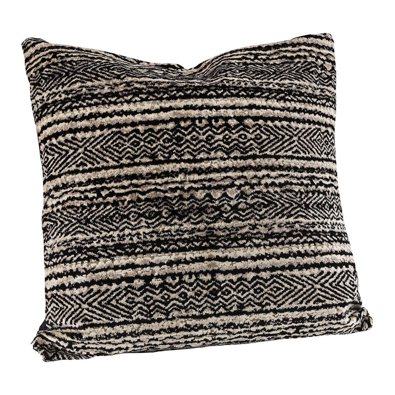 Bohemia stripe kuddfodral i svart och beige.