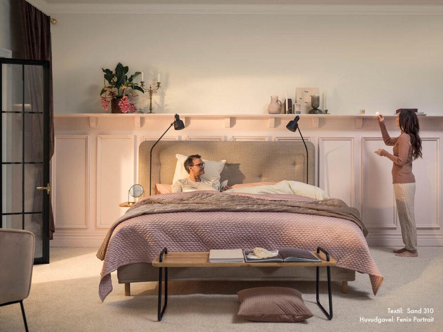 Jensen Supreme Nordic seamless med Fenix sänggavel.
