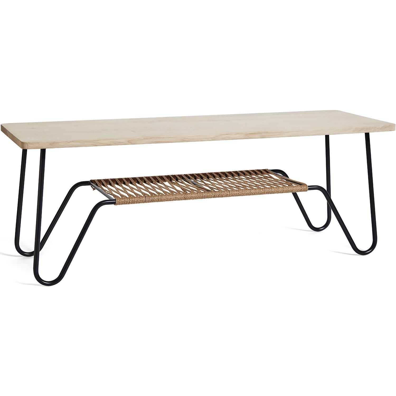 Marcel soffbord i storleken 140x50 cm, kan användas som bänk.