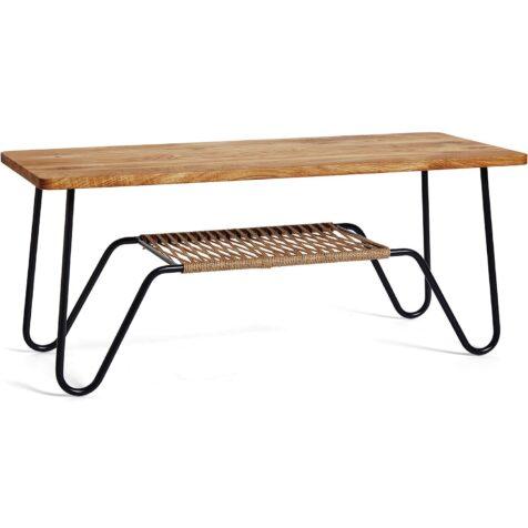 Marcel soffbord i storleken 120x50 cm ,ed bordsskiva i massiv oljad ek.
