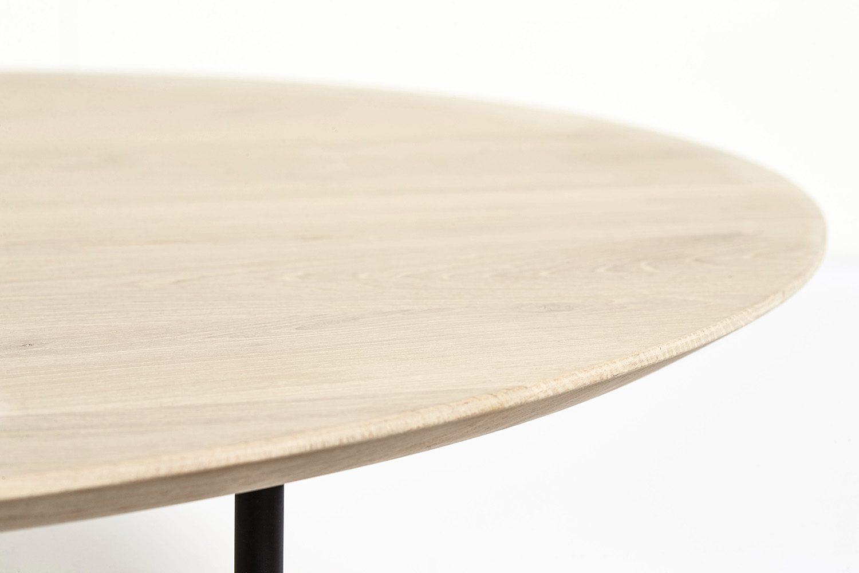 Detaljbild av Tribeca soffbord med skiva i såpad ek.