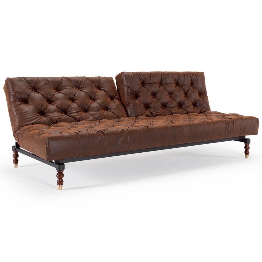 Oldschool soffa med benstativet retro.