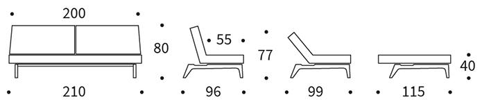 Splitback soffa Eik från Innovation living.