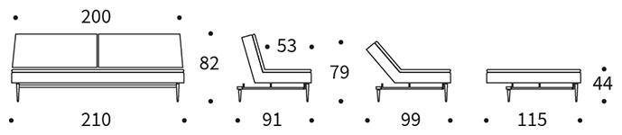 Mått på Dublexo soffa.