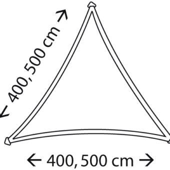 Skiss på trekantigt solsegel från Nesling.