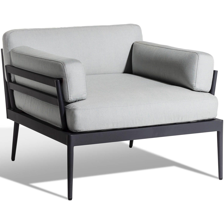 Anholt loungefåtölj i mörkgrått.