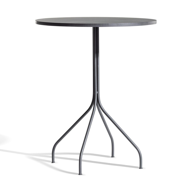 Bild på cafébordet Arholma i mörkgrå stål.